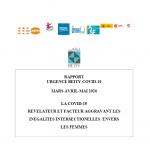 RAPPORT URGENCE BEITY-COVID-19 MARS-AVRIL-MAI 2020 LA COVID-19 REVELATEUR ET FACTEUR AGGRAVANT LES INEGALITES INTERSECTIONELLES ENVERS LES FEMMES